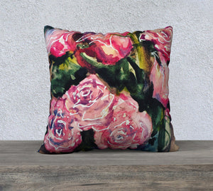 "Roses Pillow Cover 22""x22"""