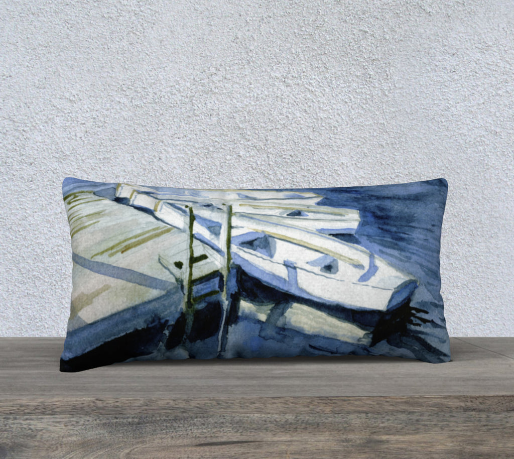"High Summer at the Dock 24""x12"" Pillow Cover"