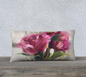 "Roses on the piano 24""x12"" Pillow Cover"