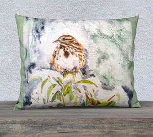 "Song Sparrow 26""x20"" Pillow Cover"