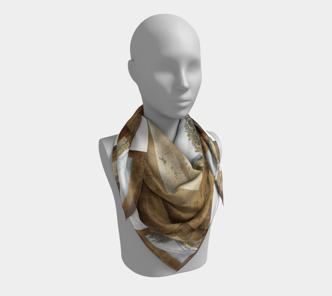 Pebble Beach Square Scarf