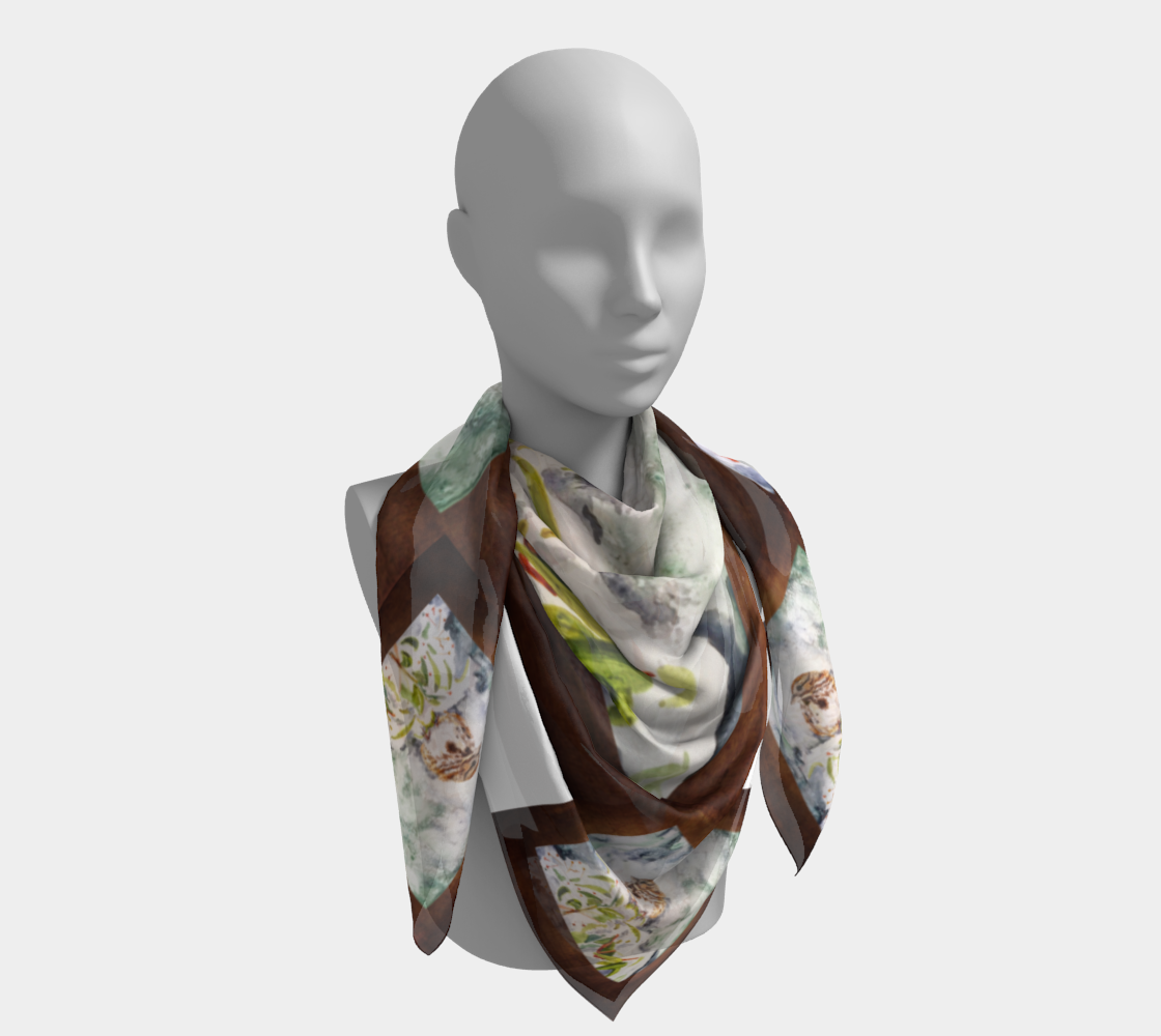 Song Sparrow Square Scarf