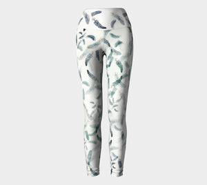 Feathers Yoga Leggings