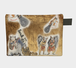 Squirrels for Peace and Peanuts for All Clutch Carryall
