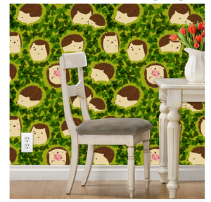 Hedgehogs in Hedges Wallpaper