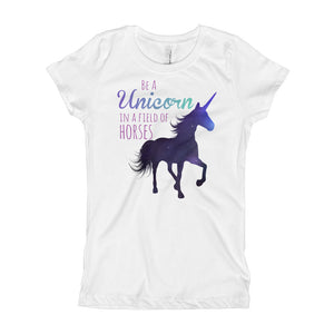 Unicorn in a Field of Horses Girl's T-Shirt - Honey Butter Company