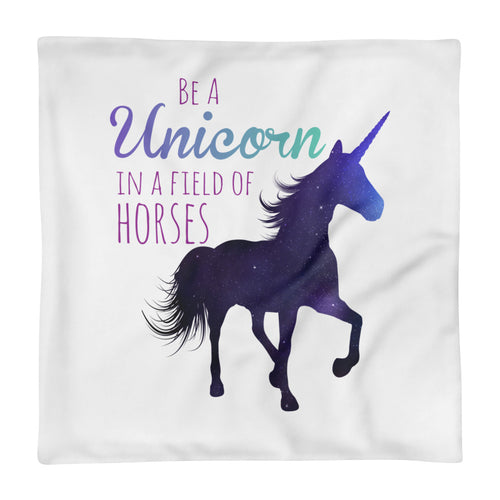 Unicorn in a Field of Horses Basic Pillow Case only - Honey Butter Company