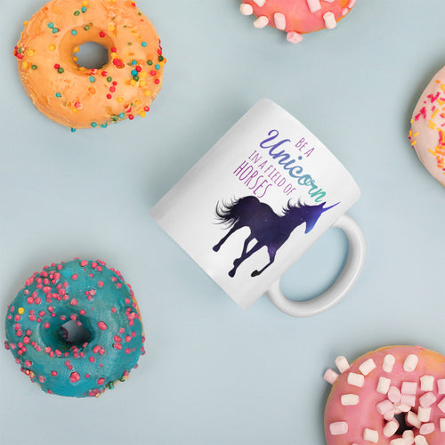 Unicorn in a Field of Horses Mug - Honey Butter Company