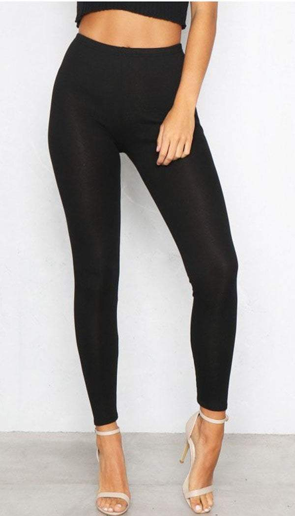 Plain Leggings In Black