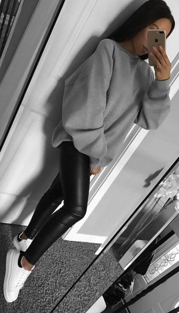 Oversized Sweater In Grey