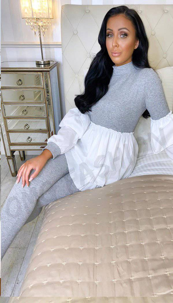 Peekaboo Hem Two Piece Loungewear Set