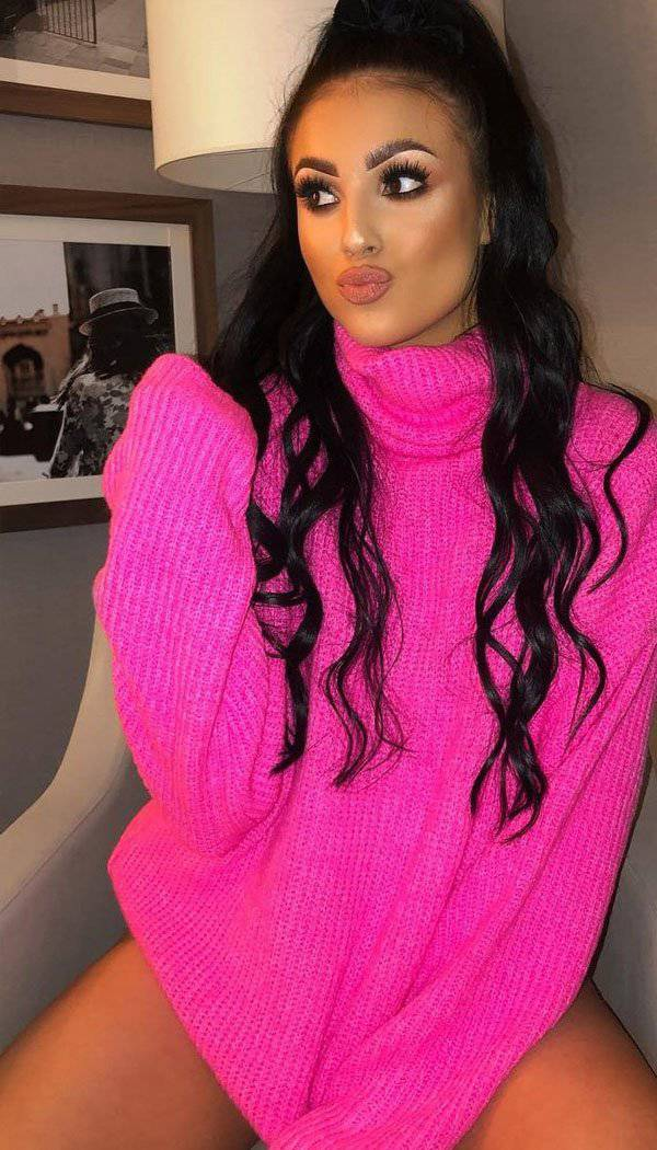 Neon Roll Neck Jumper Dress (MORE THAN 50% OFF SALE WAS £35)