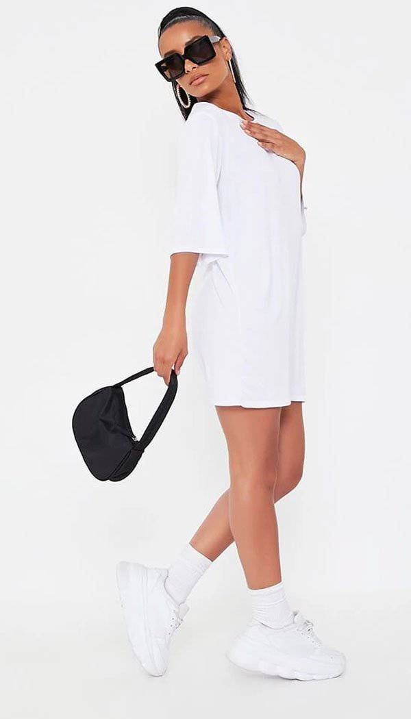 Oversized Jersey T-Shirt Dress