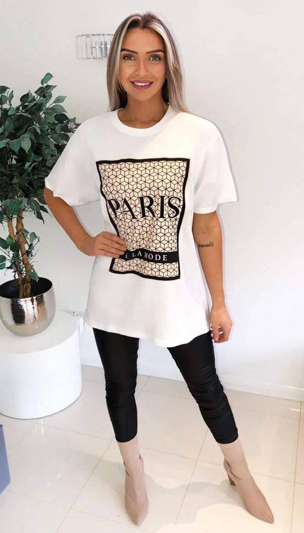 """ PARIS A LA MODE "" Oversized T-Shirt"