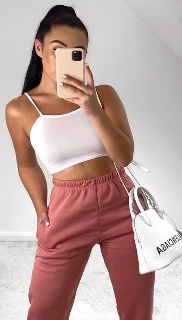 Strappy Jersey Crop Top