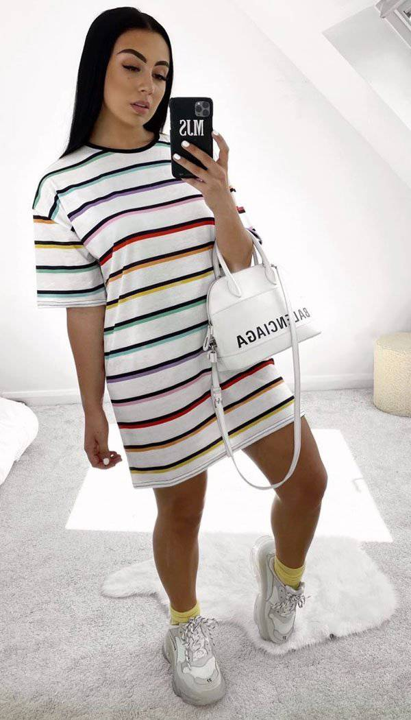 Striped Oversized T-shirt Dress