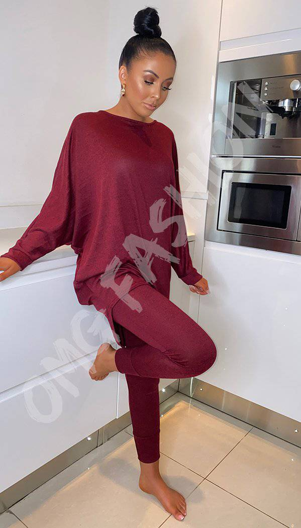 Hi-Lo Tracksuit Long Sleeved Two Piece Loungewear