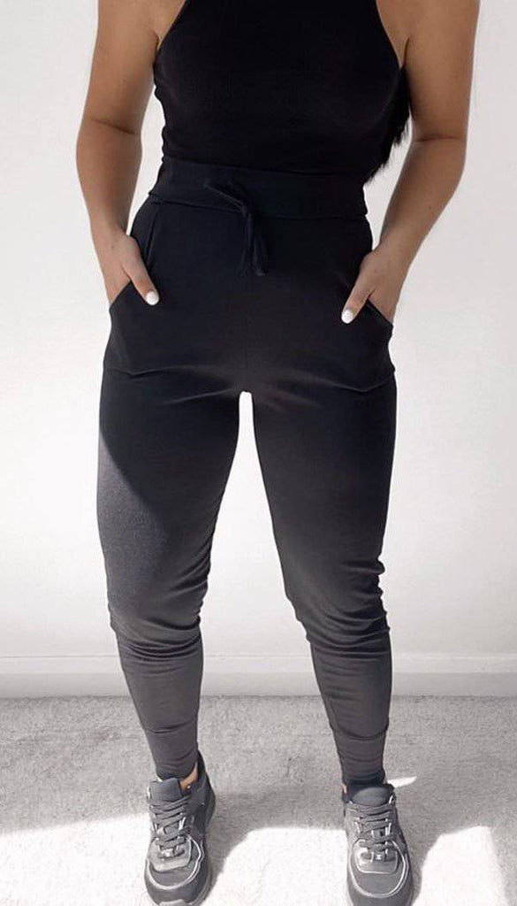 Plain Tied Front Fitted Jogger