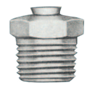Relief Fittings, Straight, 1/2 in, Male/Male, 1/8 in (PTF), 15 psi