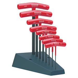 T-Handle Hex Tool Sets, 8 per stand, Hex Tip, Metric