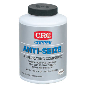 Copper Anti-Seize Lubricants, 16 oz Brush Top Bottle