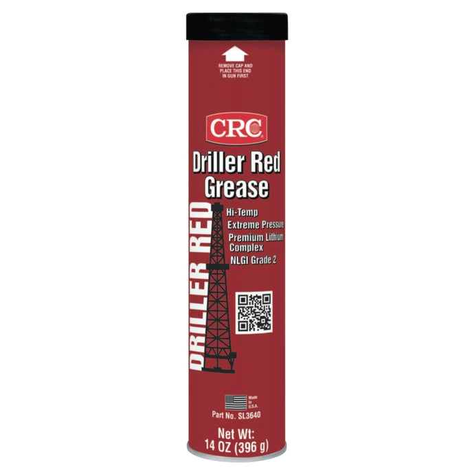 Driller Red Grease, 14 oz, Cartridge