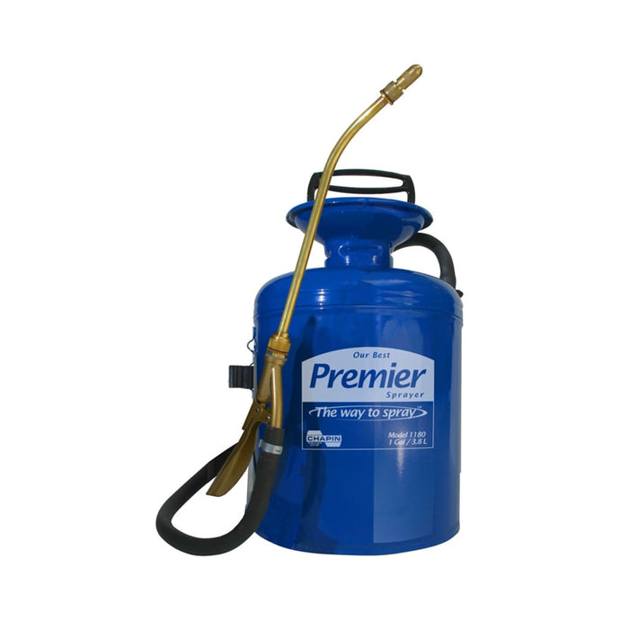 Premier Pro Tri-Poxy Steel Sprayers, 1 gal, 12 in Extension, 42 in Hose, Blue