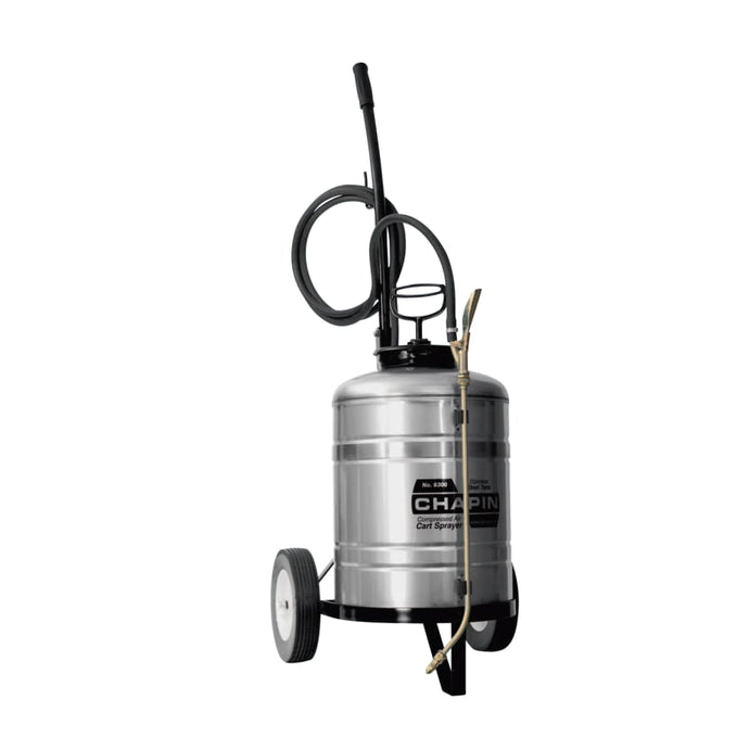 Cart Sprayer, 6 gal, 18 in Extension, 10 ft Hose
