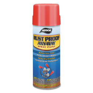 Any-Way RustProof Enamels, 12 oz Aerosol Can, Black, Flat