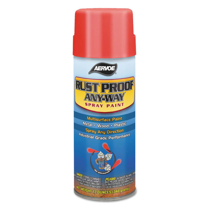 Any-Way RustProof Enamels, 12 oz Aerosol Can, Safety Orange, High-Gloss