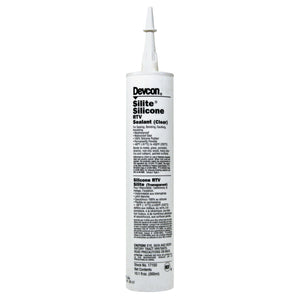 Silite Silicone RTV, 10.3 oz Cartridge, Clear