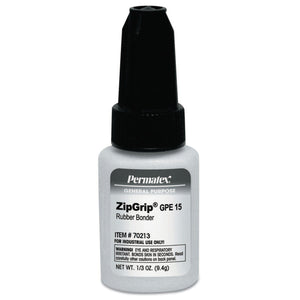 ZipGrip Adhesives, GPE 15, 1/3 oz Bottle, Clear