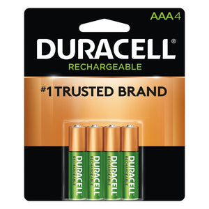 Pre-Charged Rechargeable Battery, NiMH, AAA, 1.2V, 4 Ea/Pk