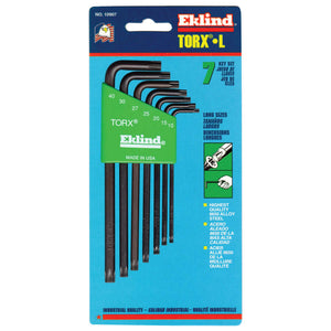 7-PC TORX LONG ALLEN WRENCH SET W/HOLDER  T