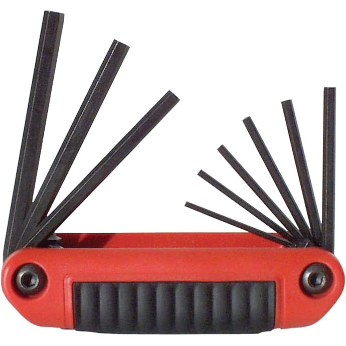 Ergo-Fold Hex Key Sets, 9 per set, Hex Tip, Inch, Medium Handle