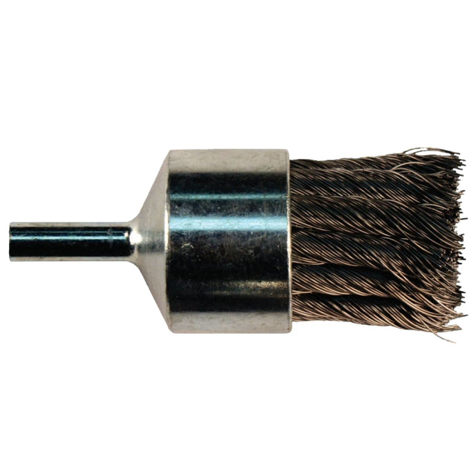 Knot Wire End Brush, Carbon Steel, 1 1/8 in x 0.014 in