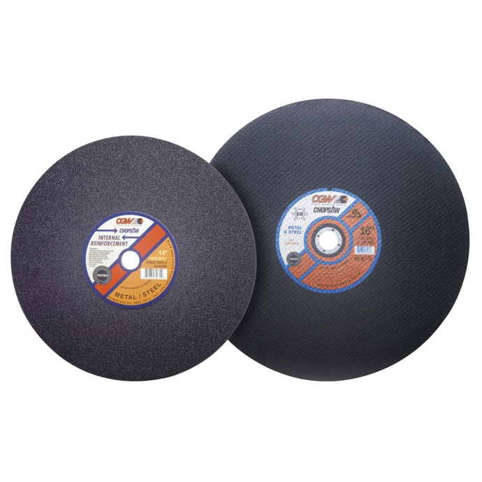 Cut-Off Wheel, Chop Saws, 14 in Dia, 3/32 in Thick, 36 Grit Alum. Oxide