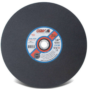 Stationary Saw Wheel, 16 in Dia, 5/32 in Thick, 24 Grit Alum. Oxide, Hardness R