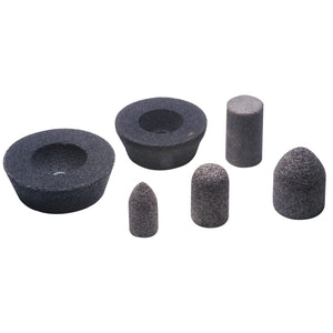 Resin Cones and Plugs, 1 1/2 in Dia, 2 1/2 in Thick, 5/8 Arbor, 24 Grit