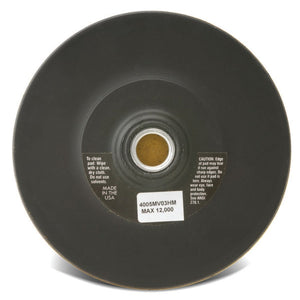 Hook and Loop Backing Pads, 5 in Diameter