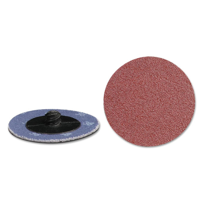 Quick Change 2-Ply Discs, Aluminum Oxide, 2 in Dia., 36 Grit