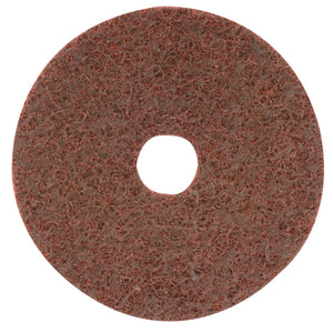 Surface Conditioning Disc, Hook & Loop w/ Arbor Hole, 4 1/2 in, 12000rpm, Maroon