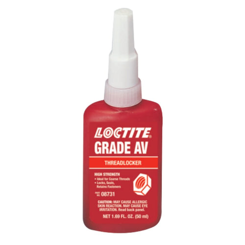 087 Grade AV Threadlockers, 50 mL, 1 in Thread, Red