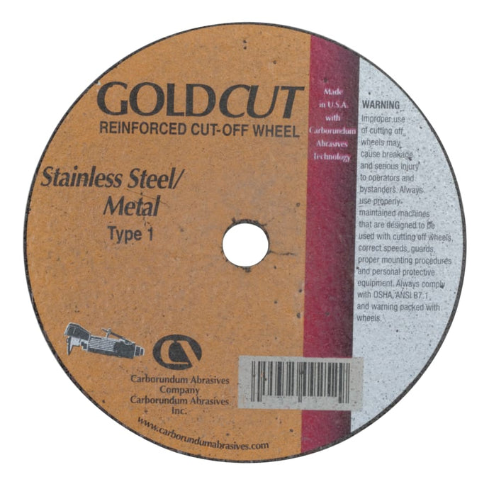 Cut-Off Wheel, 4 in Dia, 1/8 in Thick, 3/8 in Arbor, 36 Grit Alumina Oxide