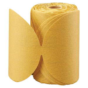 Gold Aluminum Oxide Dri-Lube Paper Discs, Seeded Gel, 5 in Dia., P100 Grit
