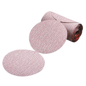 Premier Red Aluminum Oxide Dri-Lube Paper Discs, 6 in Dia., P240 Grit, Sheets