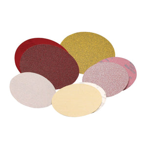 Premier Red Zirconia Resin Paper Discs, Aluminum Oxide, 6 in, 80 Grit, Stick On
