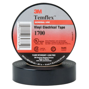 Temflex Friction Tape, 3/4 in X 60 ft, 13 mil, Black