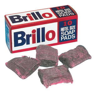 (BOX/10) BRILLO HOTEL SOAP PAD PAD SIZE 3 1/2