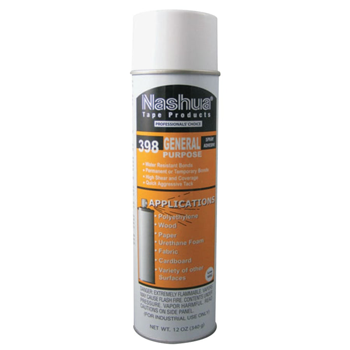 398 General Purpose Spray Adhesive, Water White, Mint Scent, 12 oz Aerosol Can